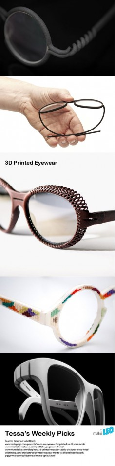 5 examples of 3D printed glasses with remarkable details. Have a closer look! | Make it LEO - Tessa's Weekly Picks