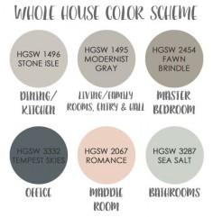 A Rural Urban   Whole house color scheme