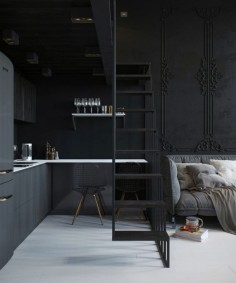 A small and dark apartment in Russia