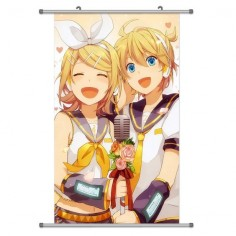 A Wide Variety of Vocaloid Characters Anime Wall Scroll Hanging Decor (Kagamine Rin & Kagamine Len 1)