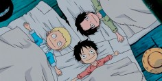 Ace, Luffy, and Sabo. Stop being so adorable Luffy!! I can't take it!
