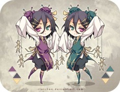 Adoptable ~ Voodoo Twins [CLOSED] by Riniuu on deviantART