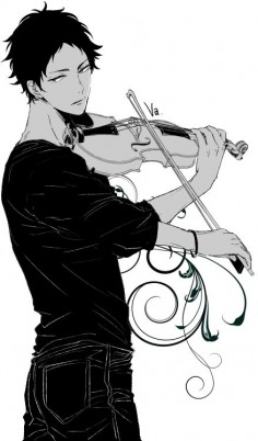 Akaashi playing the violin ❤️