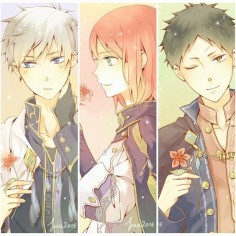 Akagami no Shirayuki-hime - Snow White with the Red Hair - Zen, Shirayuki, and Obi