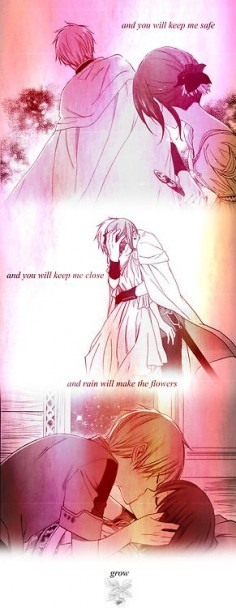 Akagami no Shirayuki-hime - Zen and Shirayuki- not sure why this is using lyrics from song about someone dying