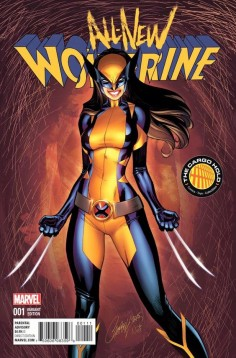 All New Wolverine #1 variant cover by J. Scott Campbell, colours by Nei Ruffino *