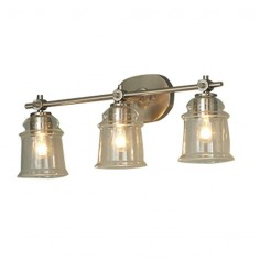 allen   roth 3-Light Winsbrell Brushed Nickel Bathroom Vanity Light