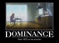 Although that's mainly because she messed up the kitchen so badly it had to be  (Toradora)