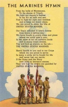 Although the Marines' Hymn made an appearance around the 1800s, it didn't have an official version until 1929, when Commandant of the Marine Corps Maj. Gen. John A. Lejeune authorized the hymn as we know it.