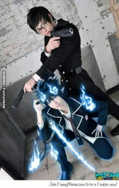 Amazing Blue Exorcist cosplay