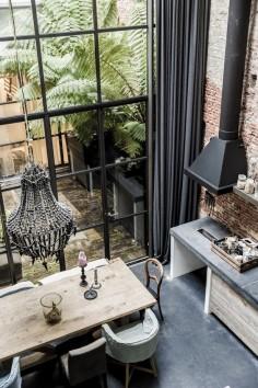 Amsterdam : Warehouse. / Le loft familial de Marius Haverkamp.