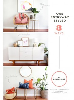 An Entryway Styled 3 Ways