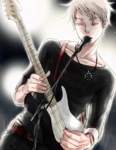 And it was that moment that all the Prussia fangirls almost died of blood loss from their  most were able to  ;) #Hetalia