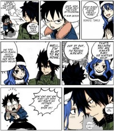 And then on the next page it turns out this was another of Juvia's  I do love this ship, though