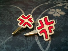 Angry Vein Anime Hair Clips. IF I HAD THESE I WOULD WEAR IT EVERYDAY!!!