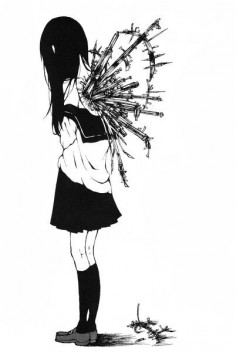 "#Anime, #Back-Stabbers, #Do-You, #Girl-Power, #Knifes, #Target-Practice, #Trust-Issues, #You-Hurt-Me #anime - ""Do you ever feel like someone is just using your back as target practice for throwing knives?"" Animal Manga, Creepy Animal Girls Manga, Animal Art, Dark Manga Creepy, Art Inspiration, Start Posts, Sad Animal Girls Dark, 365 Colors, Girls Art"