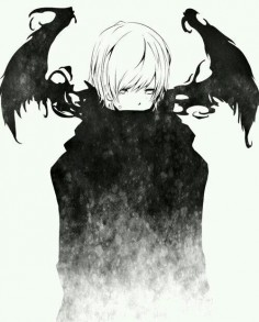 #anime #boy #dark