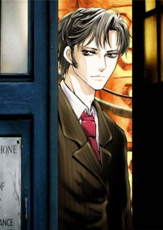 anime Doctor who! I don't even watch the show but this is pretty awesome. ♥