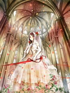 #anime #japanese #drawing #art #dress #wedding #church #victorian
