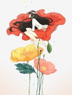 Anime on a flower