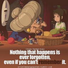 Anime quotes: Spirited away