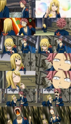 Anime/manga: Fairy Tail Characters: Natsu and Lucy