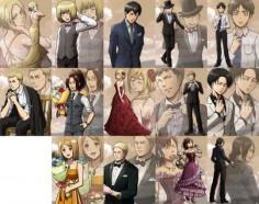 Annie x Armin x Berthold х Eren x Ervin x Hanji x Historia x Jean x Levi x Petra x Rainer x Sasha x Ymir