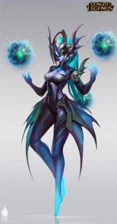 Atlantean Syndra Official Art by Zeronis on deviantART