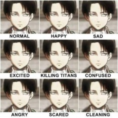 Attack on Titan I don't like Levi. but I couldn't help but pin this!! I love how he is happy when he is cleaning
