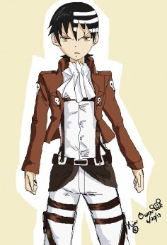 attack on titan soul eater crossover