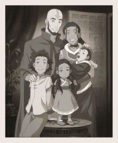 Avatar: The Last Airbender Photo: Aang and Katara's family portrait
