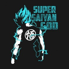 Awesome 'Super+Saiyan+God+Goku' design on TeePublic!
