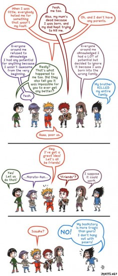 Bad Sasuke! Oh my, this is funny yet eerily  #Naruto