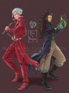 Ban and Gajeel | Nanatsu no Taizai & Fairy Tail.