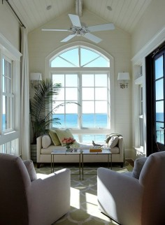 beach view living room seating area