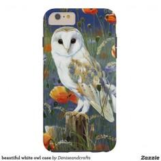 beautiful white owl case