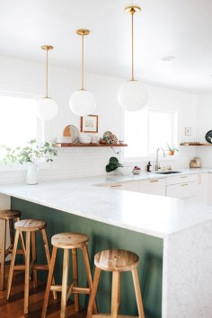 Before & After: A Fixer-Upper Gets a New Kitchen in Denver, CO | Design*Sponge | Luna Pendants by Schoolhouse Electric