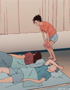 bertholdts: wakey wakey little crows ^^ (Haikyuu!! Season 2, )