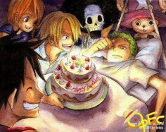 birthday, brook, chopper, nami, one piece, roronoa zoro, sanji, strawhats, monkey d luffy, mugiwara