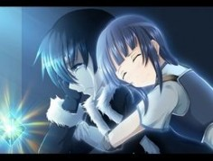 black borders kirito sachi sao kirigaya kazuto sword art online anime girls closed eyes crying anime boys anime blush short hair blue hair