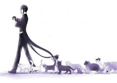 Black Butler and kitties