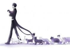 Black Butler and kitties