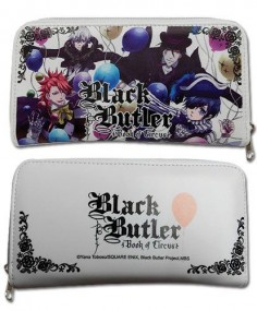 Black Butler Book of Circus Chracter white wallet