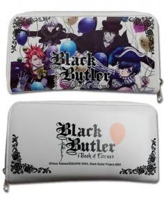 Black Butler Book of Circus Chracter white wallet