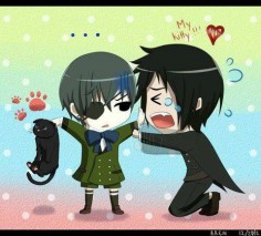 Black Butler ~~ Ciel takes Sebastian's kitty away. Wonder if that will help matters or hurt them?