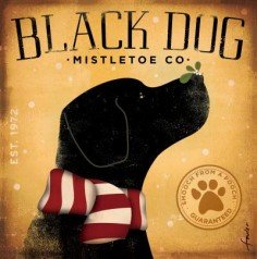 Black Dog Mistletoe Co. print