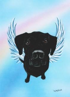 Black Lab Angel Black Labrador Retriever Art Labs by ArtbyWeeze