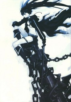 """Black Rock Shooter Dead Master BRS Anime 20"""" Poster 086 PhotoCloth"""