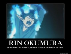 blue exorcist motivational posters | blue exorcist demotivational by SASUU16