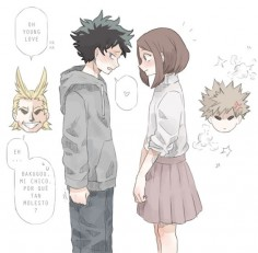 Boku no Hero Academia || All Might, Midoriya Izuku, Uraraka Ochako, Katsuki Bakugou.